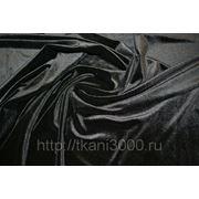 Бархат-стрейч черный фото