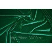 Бархат-стрейч зеленый фото