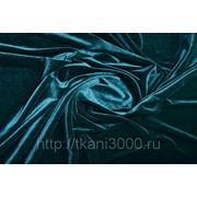 Бархат-стрейч темно - бирюзовый фото