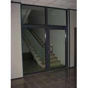 Противопожарные стеклянные двери фото