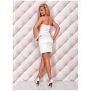 Платье белое атласное фото