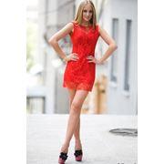 Гепюровое короткое платье фото
