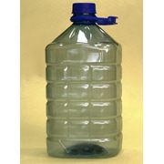 Бутыль из прозрачного пластика ПЭТ бутылки фото