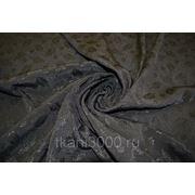 Жаккард черный листопад фото