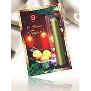 Свеча ароматическая в картонной упаковке Новогодняя фото