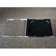 CD бокс одинарный прозрачный и черный фото