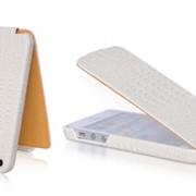 Чехол-обложка для Apple iPhone 5 Borofone Crocodile white BI-L019 1188 фото
