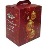 Коробка под новогодние подарки фото