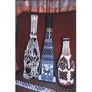 Декорированные стеклянные бутылки фото