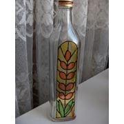 Бутылки стеклянные декорированные фото