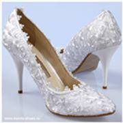 Туфли свадебные кружевные фото