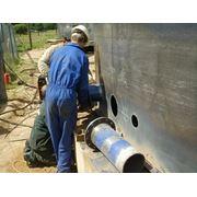 Монтаж стальных трубопроводов и запорной арматуры фото