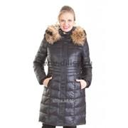 Пальто с мехом Mishele 9917 черный фото