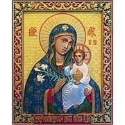Резные иконы Неувядаемый цвет Богородица, икона, резьба по дереву Высота иконы 32 см фото