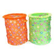 Корзина для игрушек m01-1128 девочка, ткань, 38*45см, в пакете (832056) фото