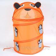 """Корзина для игрушек z-13/9237-7 (151) """"медведь"""", ткань, в пакете (833567) фото"""