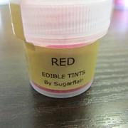 Сухая краска Sugarflair Красная 5 мл фото