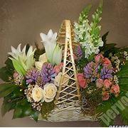 Цветочные корзины фото