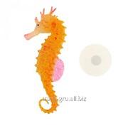 Аквадекор Морской конек на присоске, 10 х 4 х 2 см, силикон, микс цветов фото