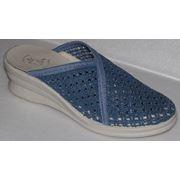 Туфли женские текстильные С-36 синие фото