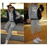 Спортивный костюм с жилеткой-Серый (XL)DD-18121# фото