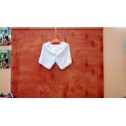 шорты эластичные белые фото