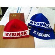 Лыжные шапочки с логотипом (вязаные) фото
