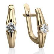 Серьги с бриллиантами.2-0607-P-D фото