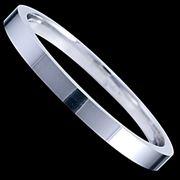 Серебряное кольцо обручальное фото