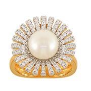 Кольца с жемчугом 1100281-00400 фото