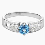 Кольцо с драгоценными камнями.1-1037-W-DT фото