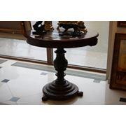 Круглый столик на резной ноге. Кон.XIX - нач.XX вв. фото