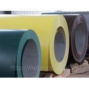 Лист оцинкованный в рулонах с полимерным покрытием 0,5мм, ст. 08ПС, ГОСТ 9045-93, RAL 8017, Продажа в Минске фото