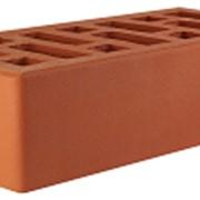 Кирпич облицовочный красный одинарный гладкий М-150 СтОскол фото