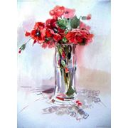 "Картины цветов   Paintingsof flowers ""Poppies"" фото"