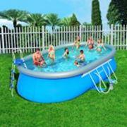 Каркасный овальный бассейн фото