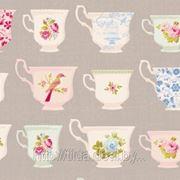 Ткань Тильда Porcelaine Cup Lin Grey. фото