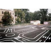 Разметка дорог фото