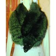 Натуральный мех лисицы чернобурой крашеной фото