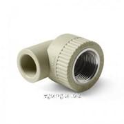 Угольник комбинированный ВР Серый 20-1/2 PP-R