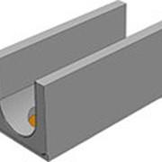 Лоток водоотводный бетонный серия Norma DN150 H190 с вертикальным водосливом фото