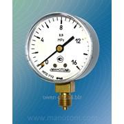 Мановакуумметр с осевым расположением штуцера диаметр корпуса 60 мм МП2-У, ВП2-У, МВП2-У