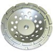 Круг алмазный Чашечный для прямых и углошлифовальных машин сегментный 2-х рядный 125х22 мм фото