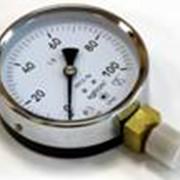 Вакуумметр ВП100МС, Р= -0,1МПа, корпус металлический, стекло техническое фото