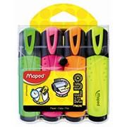 Набор маркер-выделителей Maped Fluo Peps Classic, 4 цвета фото