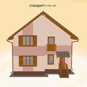 Дома деревянные, Стандарт, стандарт 116 м кв., дом деревянный, деревянный дом, коттедж фото