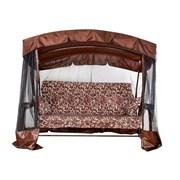 Садовые Качели Ранго-Премиум Шоколад и Бордо Доставка по РБ Большой выбор. Нагрузка 400 кг. фото
