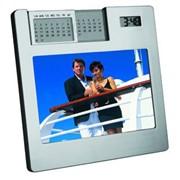 Рамка для фотографии 10х15 см с часами и «вечным» календарем фото