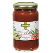 Соус томатный с маринованными огурцами и хреном фото