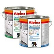 Эмаль Alpina Aqua Acryl Weisslack (водоразбовляемая,белая), 0,75 л. фото